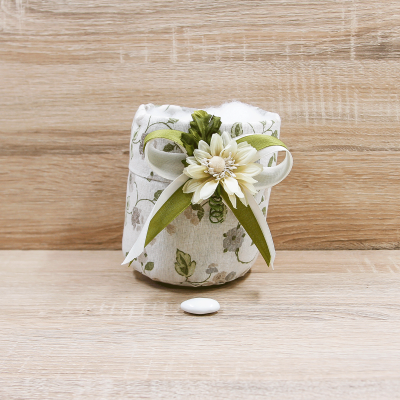 Sacchettone Parigi per Confettata con Fiore Panna Orchidea