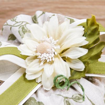 Sacchetto Puffo Parigi con Fiore Margot Orchidea