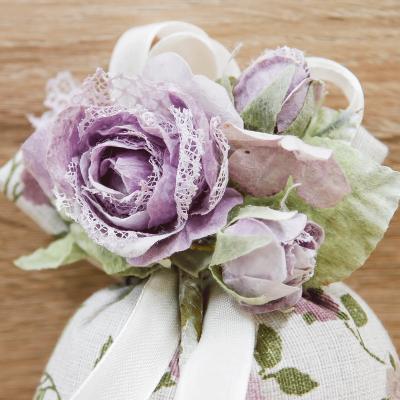 Sacchettino Provenza con Fiore Viola Orchidea