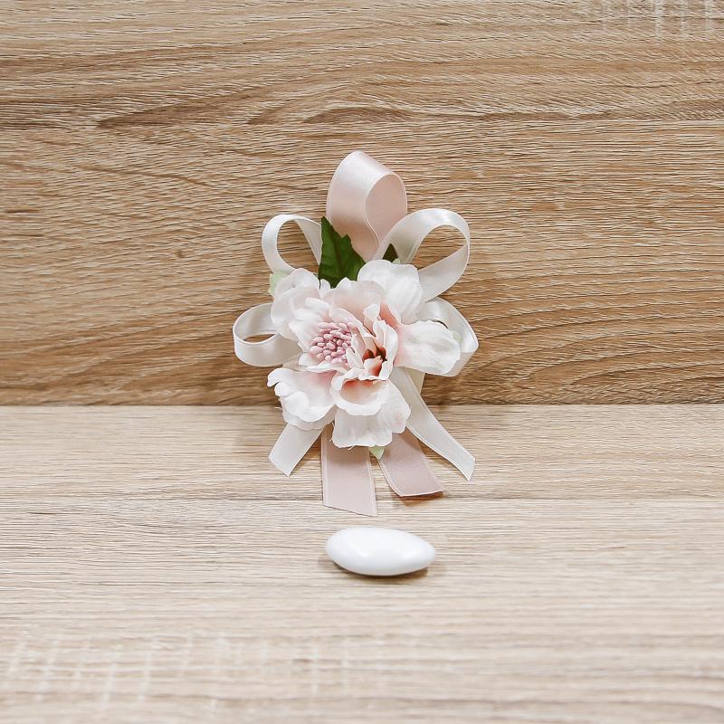 Segnaposto Matrimonio Rosa Cipria.Bomboniera Segnaposto Con Fiore Rosa Orchidea Vendita Online