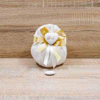 Sacchetto Puffo con Magnete Cuore LOVE Orchidea