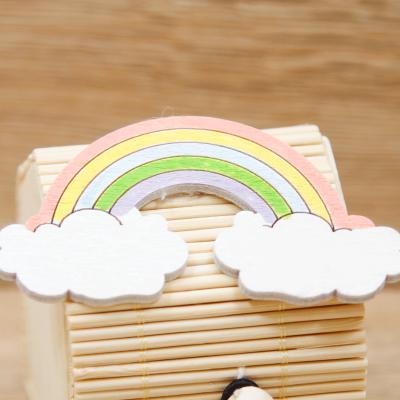 Portaconfetti Casetta con Magnete Arcobaleno