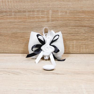 Fiocco con Chiave di Violino Bianca Orchidea