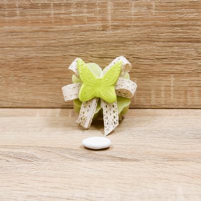 Sapone Quadrifoglio con Magnete Farfalla Orchidea