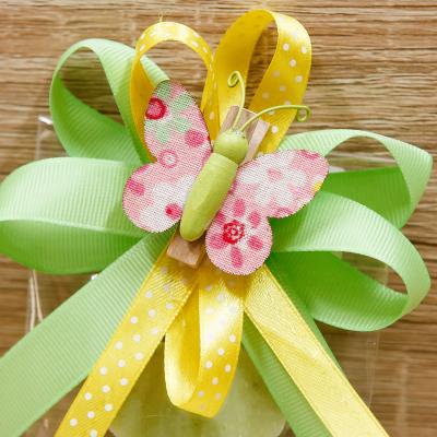 Sapone Quadrifoglio con Clip Farfalla Orchidea