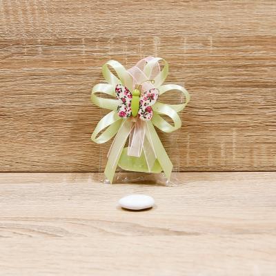 Sapone Cuore Verde con Clip Farfalla Orchidea