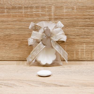 Sapone Cuore Bianco con Coppia Sposi Orchidea