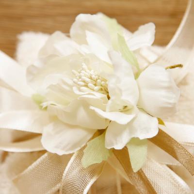 Sapone Cuore Bianco con Tovaglia e Fiore Orchidea