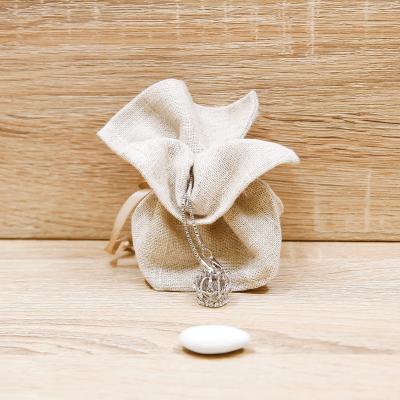 Sacchetto con Collana Corona Imperiale Argento Orchidea