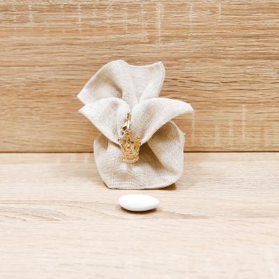 Sacchetto con Collana Corona Regina Oro Orchidea