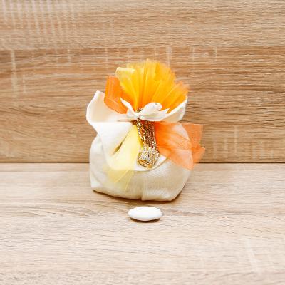 Sacchetto con Collana Corona Oro Imperiale Orchidea
