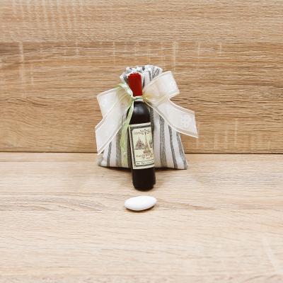 Sacchetto Verde con Apribottiglie Bottiglia Vino Linea Parigi Orchidea