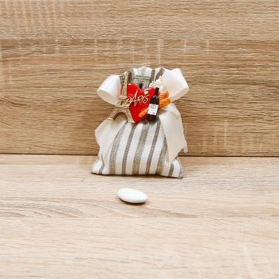 Sacchetto Beige con Magnete Linea Parigi Orchidea