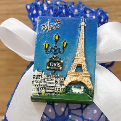 Sacchetto con Magnete Tour Eiffel Linea Parigi Orchidea