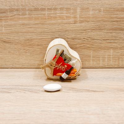 Portaconfetti Cuore con Magnete Parigi Orchidea
