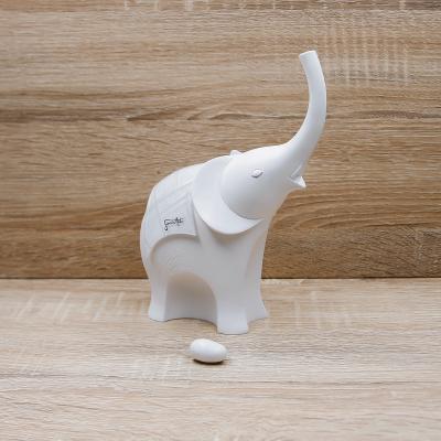 Elefante Corazza Bianca Grande Lully Argenti