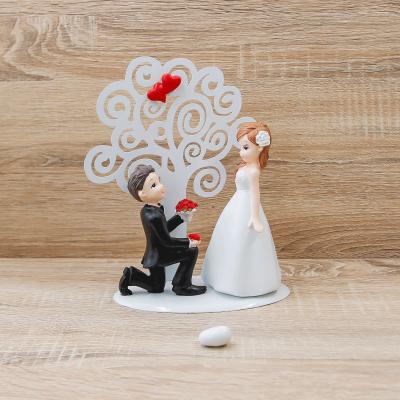 Porta Memo Medio Coppia Sposi con Albero della Vita Cuore Matto