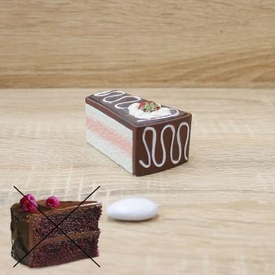 Porta Bon-bon Fetta Torta Cioccolato Orchidea