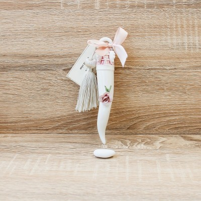 Corno Portafortuna Rosa Porcellane di Capodimonte