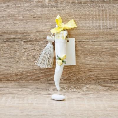 Cornetto Portafortuna con Limoni Porcellane di Capodimonte