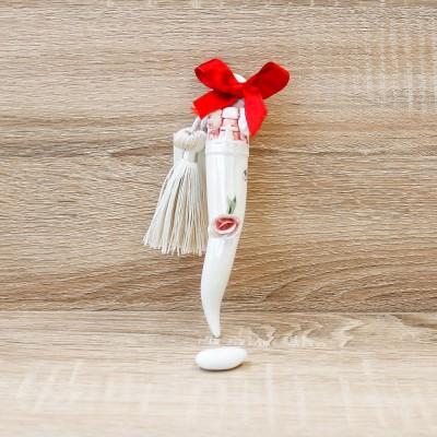 Cornetto Portafortuna Rosso Porcellane di Capodimonte