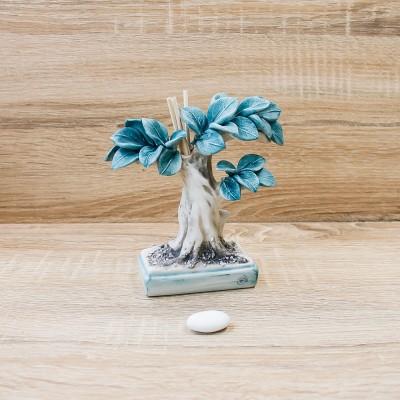 Profumatore Bonsai Azzurro Porcellane di Capodimonte