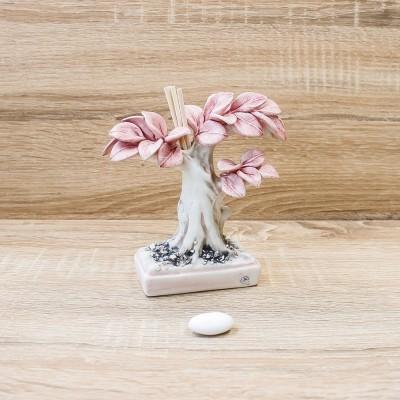 Profumatore Bonsai Rosa Porcellane di Capodimonte