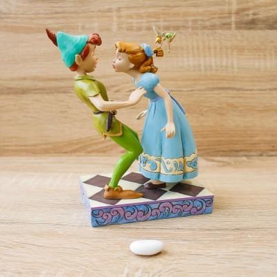 "Peter Pan, Wendy e Trilli ""Il Bacio"" Disney Traditions"