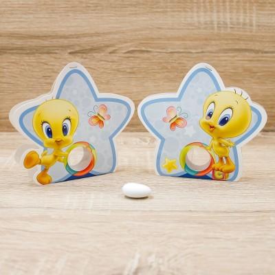 Portaconfetti Stella Titti Celeste Looney Tunes