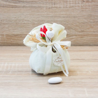 Sacchetto Piccolo Panna Linea Fortuna Orchidea