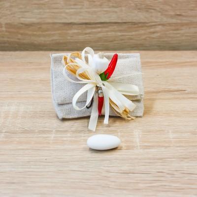 Sacchetto Pochette Tortora Linea Fortuna Orchidea