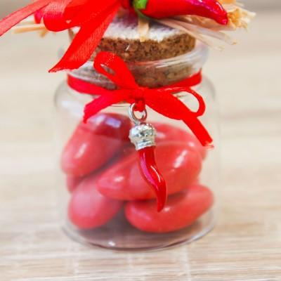 Vasetto Rosso con Peperoncino Linea Fortuna Orchidea