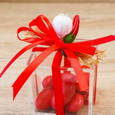 Cubo Rosso con Peperoncino Linea Fortuna Orchidea