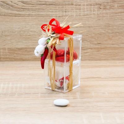 Doppio Cubo Rosso con Peperoncino Linea Fortuna Orchidea
