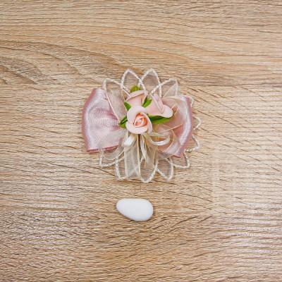 Segnaposto Rosa Antico con Fiorellini Orchidea