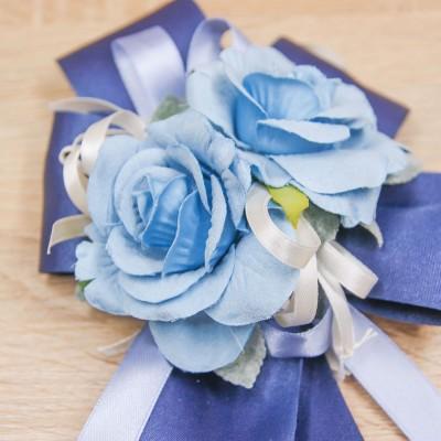 Fiocco Grande Blu e Fiore Celeste Orchidea