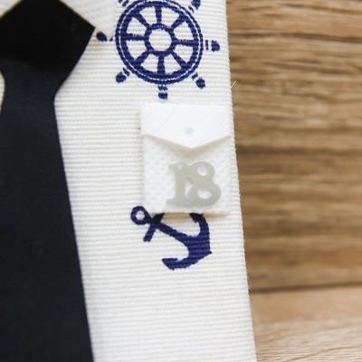 Portaconfetti Camicia Tema Mare 18 Anni Orchidea