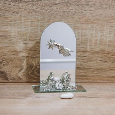 Sacra Famiglia Argento con Specchio Ovale Via Margutta