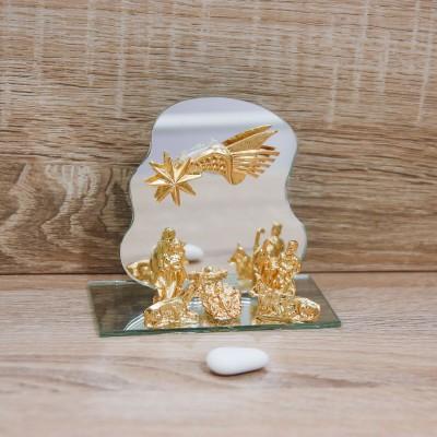 Sacra Famiglia Oro con Specchio Orchidea