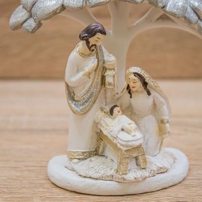 Sacra Famiglia con Albero di Cuori Mandorle by Paben