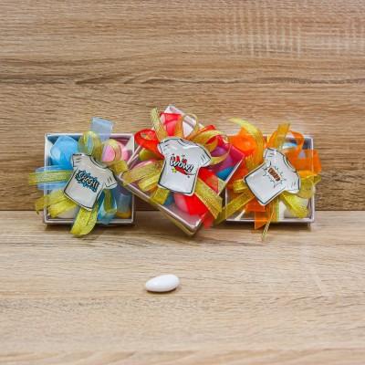Portaconfetti con Magnete Maglia Fumetto Orchidea