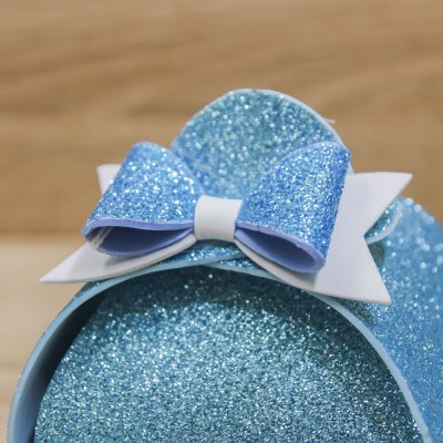 Portaconfetti Glitter Celeste Orchidea