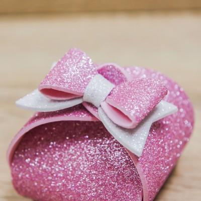 Portaconfetti Piccolo Glitter Rosa Orchidea
