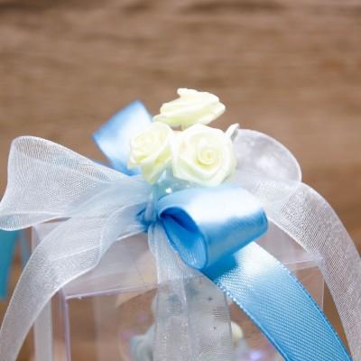 Palla di Glitter con Unicoro Celeste Orchidea