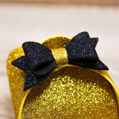 Portaconfetti Piccolo Glitter Oro Orchidea