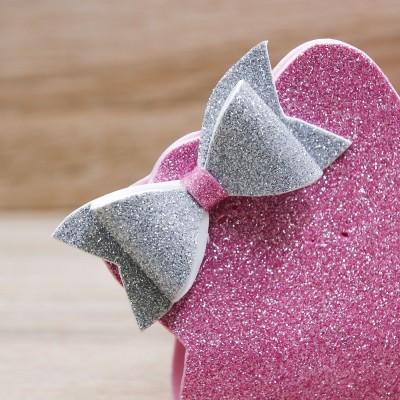 Sacchetto Stella Glitter Rosa Orchidea