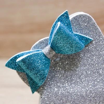 Sacchetto Stella Glitter Argento Orchidea