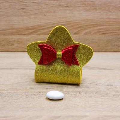 Sacchetto Stella Glitter Oro Orchidea
