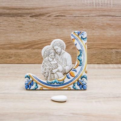 Icona Sacra Famiglia Maiolica Dolcicose