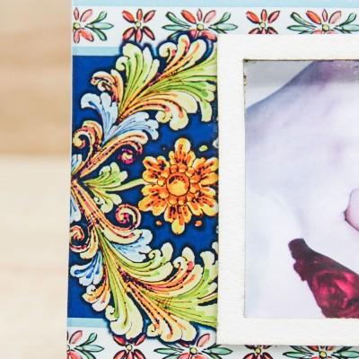 Portafoto Floreale in Blu Prendimi per Mano Solidale